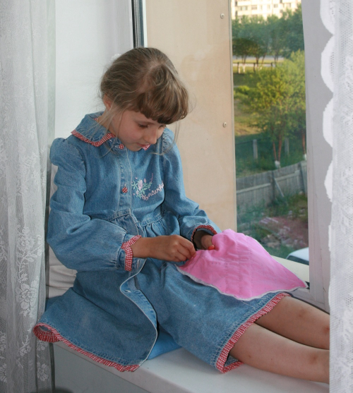 Kate sewing